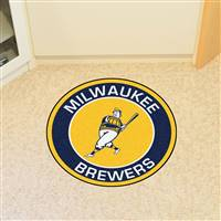 "Milwaukee Brewers Roundel Mat 27"" diameter"