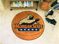 "Morgan State Bears Basketball Rug 29"" diameter"