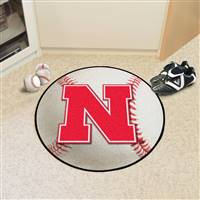 "University of Nebraska Baseball Mat 27"" diameter"