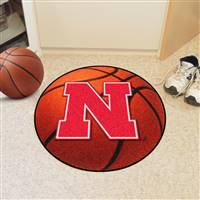 "University of Nebraska Basketball Mat 27"" diameter"