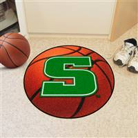 "Slippery Rock Basketball Rug 29"" diameter"