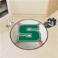 "Slippery Rock Baseball Rug 29"" diameter"