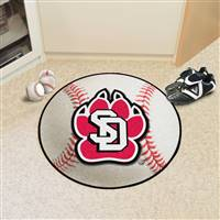 "University of South Dakota Baseball Mat 27"" diameter"