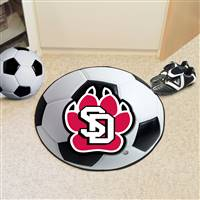 "University of South Dakota Soccer Ball Mat 27"" diameter"