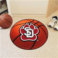 "South Dakota Coyotes Basketball Rug 29"" diameter"