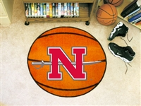 "Nicholls State University Basketball Rug, 29"" Diameter"