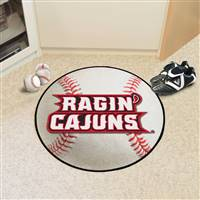 "Louisiana-Lafayette Ragin' Cajuns Baseball Rug 29"" diameter"