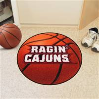 "Louisiana-Lafayette Ragin' Cajuns Basketball Rug 29"" diameter"