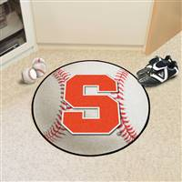 "Syracuse Baseball Rug 29"" diameter"