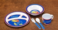 Kansas Jayhawks Kid's 5 Pc. Dish Set
