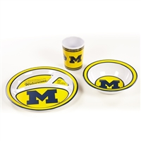 Michigan Wolverines Kid's 3 Pc. Dish Set