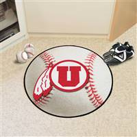 "University of Utah Baseball Mat 27"" diameter"