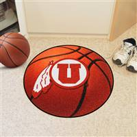 "Utah Utes Basketball Rug 29"" diameter"