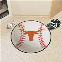 "Texas Longhorns Baseball Rug 29"" diameter"