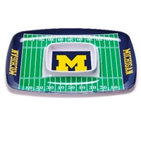 Michigan Wolverines Chip & Dip Tray