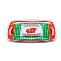 Wisconsin Badgers Chip & Dip Tray
