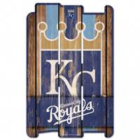 Kansas City Royals Sign 11x17 Wood Fence Style