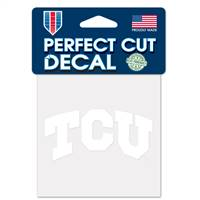 TCU Horned Frogs Decal 4x4 Perfect Cut White
