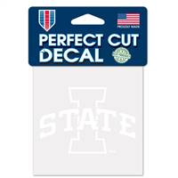 Iowa State Cyclones Decal 4x4 Perfect Cut White