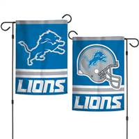 Detroit Lions Flag 12x18 Garden Style 2 Sided