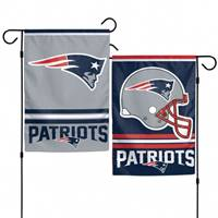 New England Patriots Flag 12x18 Garden Style 2 Sided