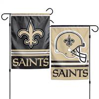 New Orleans Saints Flag 12x18 Garden Style 2 Sided