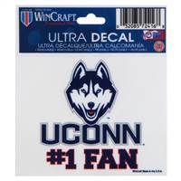 Connecticut Huskies Decal 8x8 Perfect Cut Color