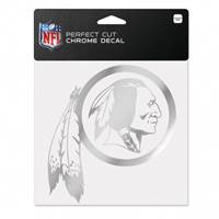 Washington Redskins Decal 6x6 Perfect Cut Chrome