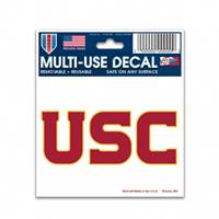 USC Trojans Decal 3x4 Multi Use Color