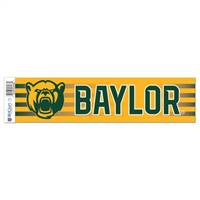 Baylor Bears Decal 3x12 Bumper Strip Style - Special Order