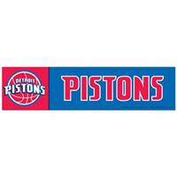 Detroit Pistons Decal 3x12 Bumper Strip Style - Special Order