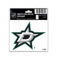 Dallas Stars Decal 3x4 Multi Use Color