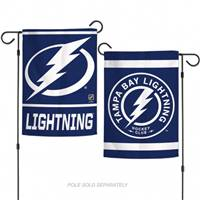 Tampa Bay Lightning Flag 12x18 Garden Style 2 Sided