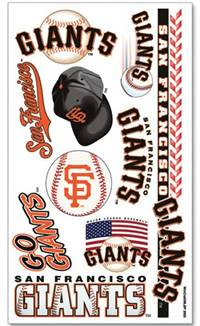 San Francisco Giants Temporary Tattoos