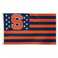 Syracuse Orange Flag 3x5 Deluxe Style Stars and Stripes Design