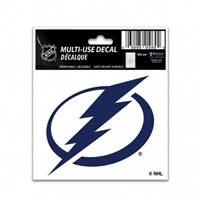 Tampa Bay Lightning Decal 3x4 Multi Use Color