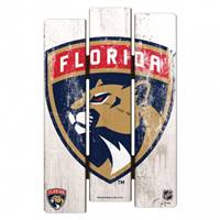 Florida Panthers Sign 11x17 Wood Fence Style - Special Order
