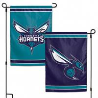 Charlotte Hornets Flag 12x18 Garden Style 2 Sided - Special Order