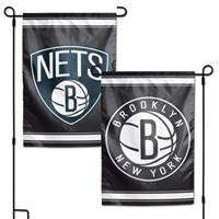 Brooklyn Nets Flag 12x18 Garden Style 2 Sided - Special Order