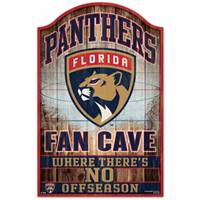 Florida Panthers Sign 11x17 Wood Fan Cave Design - Special Order