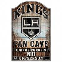 Los Angeles Kings Sign 11x17 Wood Fan Cave Design - Special Order