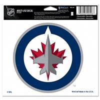 Winnipeg Jets Decal 5x6 Multi Use Color