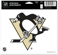 Pittsburgh Penguins Decal 5x6 Ultra Color