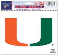 Miami Hurricanes Decal 5x6 Ultra Color