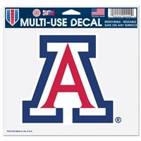 Arizona Wildcats Decal 5x6 Multi Use Color