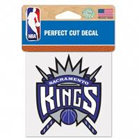 Sacramento Kings Decal 4x4 Perfect Cut Color - Special Order
