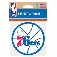 Philadelphia 76ers Decal 4x4 Perfect Cut Color