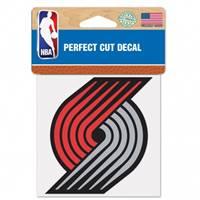 Portland Trail Blazers Decal 4x4 Perfect Cut Color - Special Order