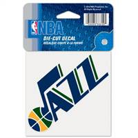 Utah Jazz Decal 4x4 Perfect Cut Color