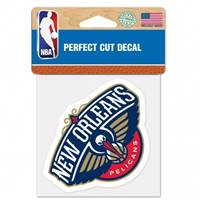 New Orleans Pelicans Decal 4x4 Perfect Cut Color